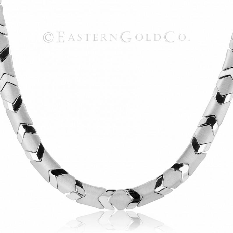 18ct White Gold Necklace Set Cubic Zirconia