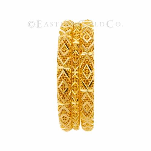 22ct Gold Filigree Bangles set. 8 Pcs