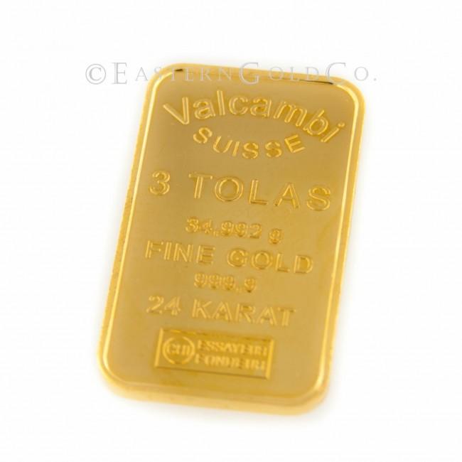 3 Tola Gold Bar