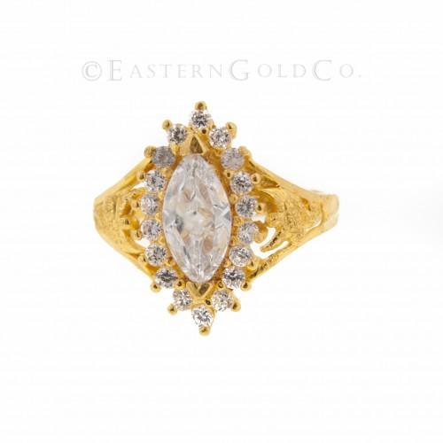22ct Gold Ring, Stone Set,...