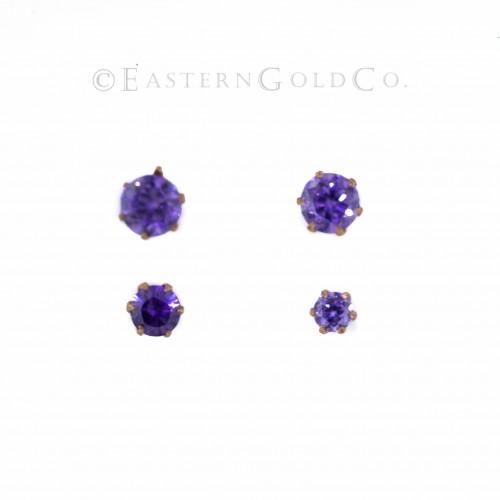 Purple Nose Pin