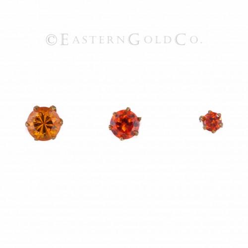 Orange Nose Pin