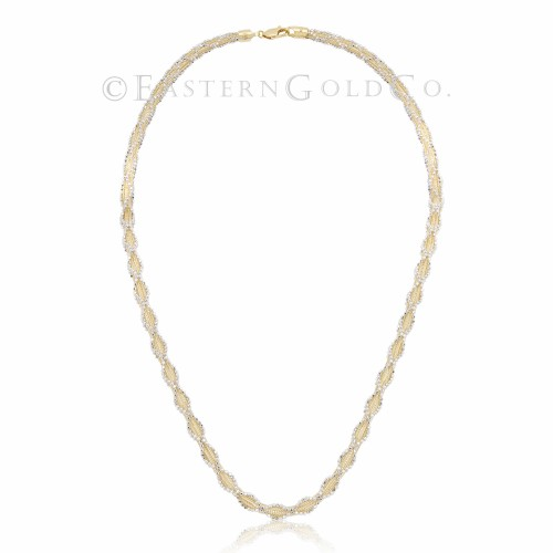 Silk Necklace Set 18ct Gold