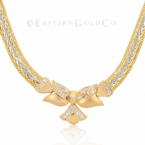 18ct Gold Ladies Necklace set
