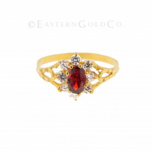 22ct Gold Ladies Stone Set Ring
