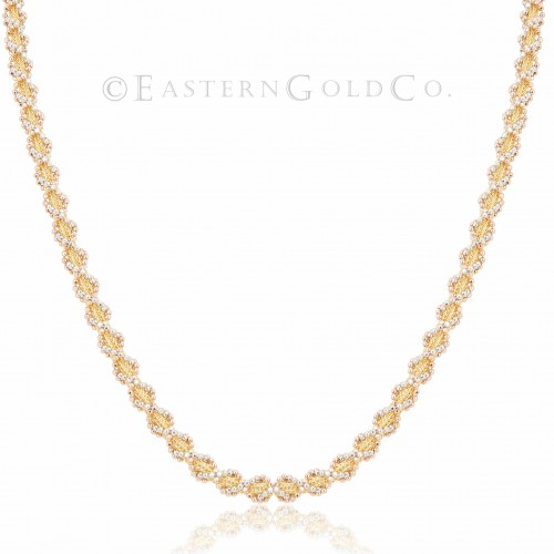 Silk Necklace Set 21ct Gold