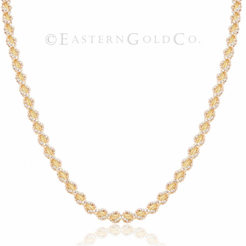 Silk Necklace Set 21ct Gold