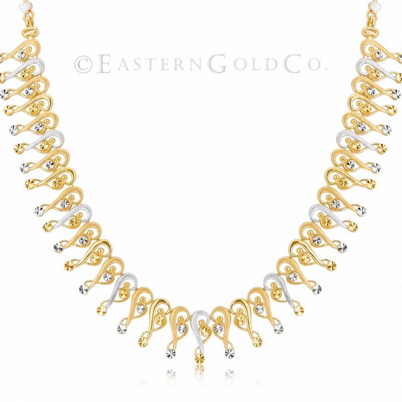 22ct Gold Silk Necklace Set
