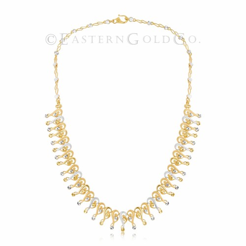 22ct Gold Silk Necklace Set
