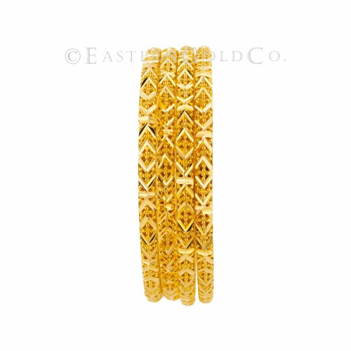 22ct Gold Filigree Bangles set. 8 Pcs