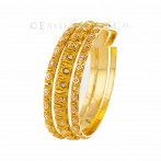 22ct Gold Indian Filigree Bangles set. 3 Pcs