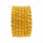 22ct Gold Indian Filigree Bangles set. 8 Pcs