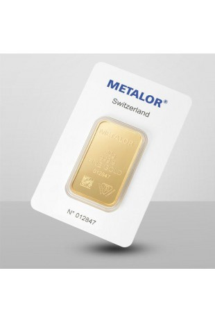 Metalor 20g Minted Gold Bar