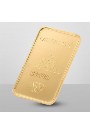 Metalor 1g Minted Gold Bar