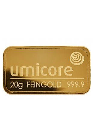 Umicore 20g Minted Gold Bar
