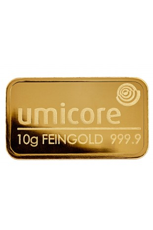 Umicore 10g Minted Gold Bar