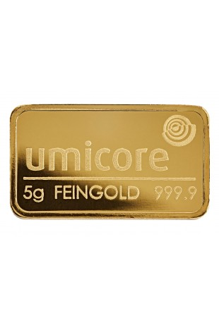 Umicore 5g Minted Gold Bar