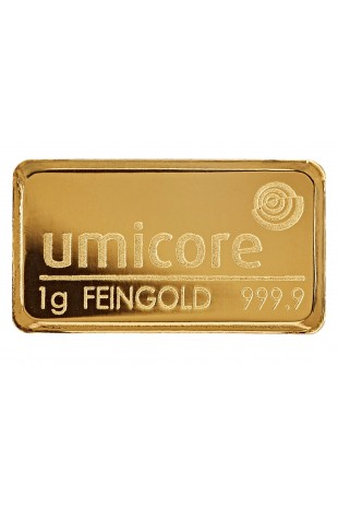 Umicore 1g Minted Gold Bar