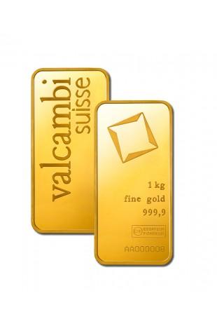 Valcambi 1KG Minted Gold Bar