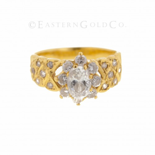 22ct Gold Ladies Stone Set...