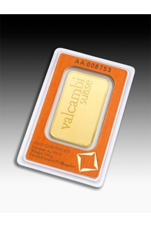 Valcambi 100g Minted Gold Bar