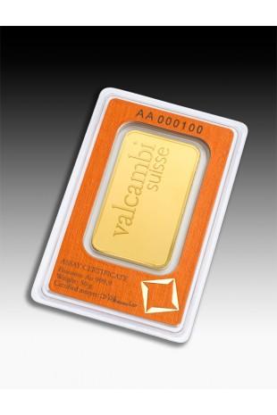 Valcambi 50g Minted Gold Bar