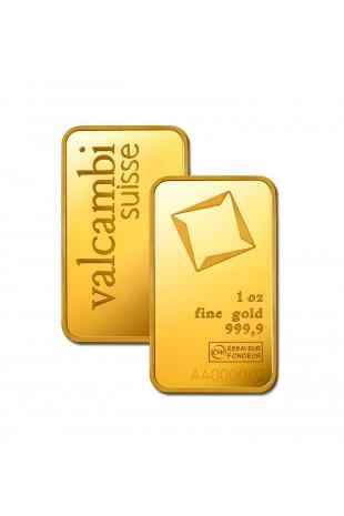 Valcambi 1oz Minted Gold Bar