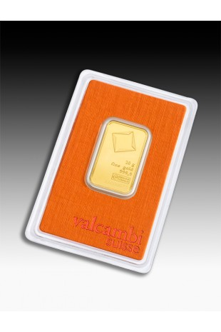 Valcambi 20g Minted Gold Bar