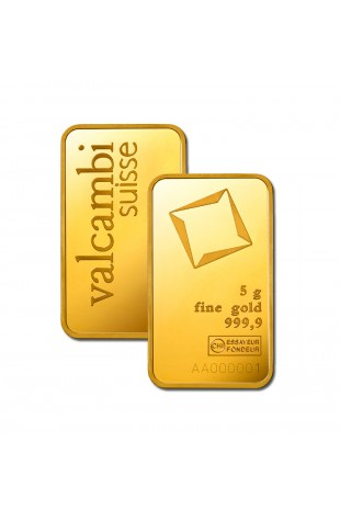 Valcambi 5g Minted Gold Bar