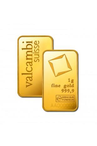 Valcambi 1g Minted Gold Bar