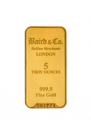 Baird & Co 5oz Gold Minted Bar