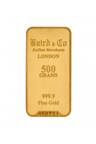 Baird & Co 500g Gold Minted...