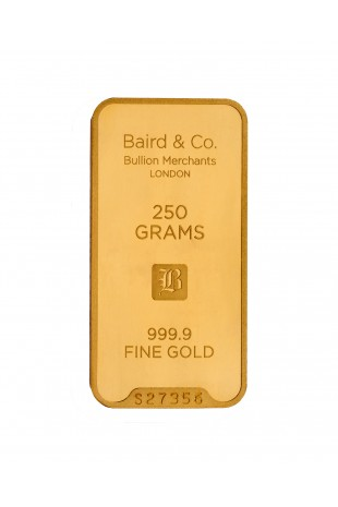 Baird & Co 250g Gold Minted...