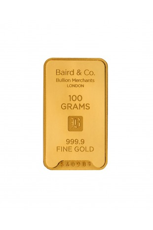 Baird & Co 100g Gold Minted...