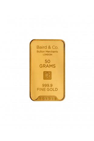 Baird & Co 50g Gold Minted Bar