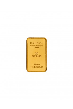 Baird & Co 20g Gold Minted Bar