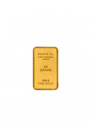 Baird & Co 20g Gold Minted Bar