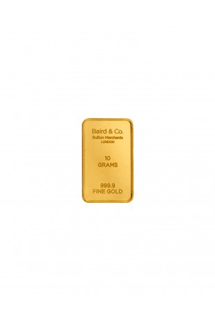 Baird & Co 10g Gold Minted Bar