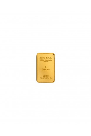 Baird & Co 5g Gold Minted Bar