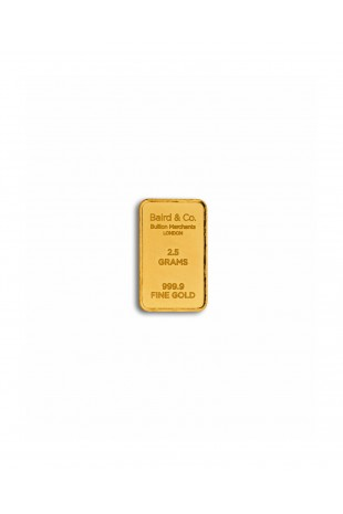 Baird & Co 2.5g Gold Minted...