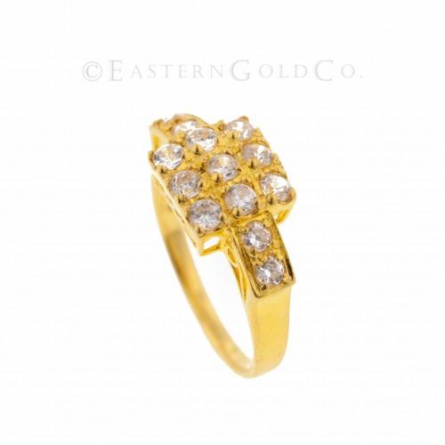 22ct Gold Ladies Stone Set...